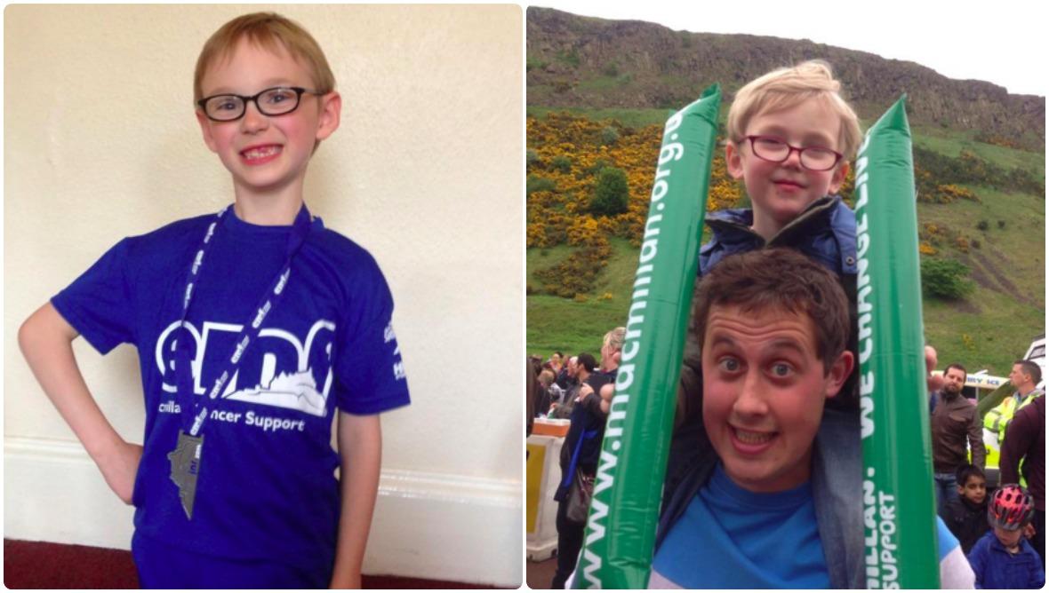 Marathon magic: Ephram takes on Edinburgh charity challenge